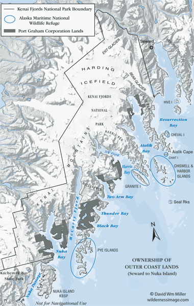 Kenai Fjords National Park Overview Map