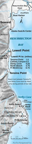 Caines Head Shoreline Trail Map
